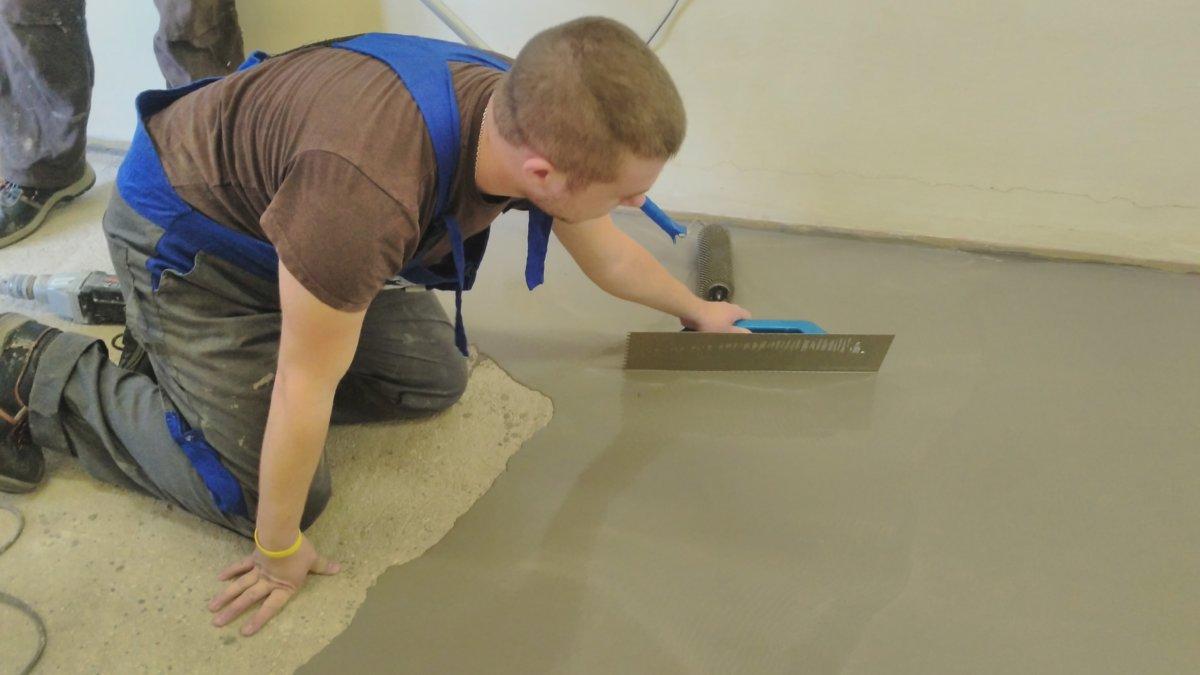 Zarovnávání podlahy